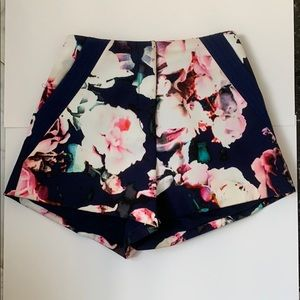 Finders Keepers floral high waisted shorts